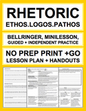 Rhetorical Devices Ethos Logos Pathos: No Prep Introductor
