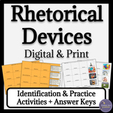 Rhetorical Devices Activities for Google Drive & Print
