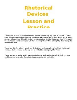Rhetorical Devices Mini-Unit
