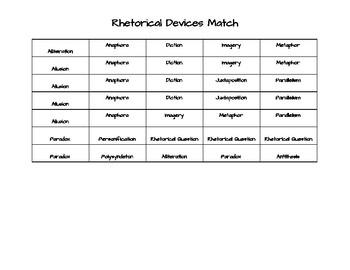 Rhetorical Devices Match