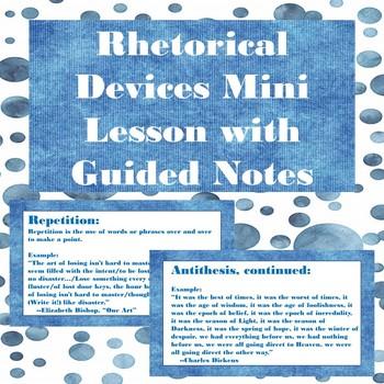 Rhetorical Devices Mini Lesson