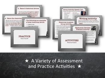 Rhetorical Devices:  PowerPoint, Activities & Handouts