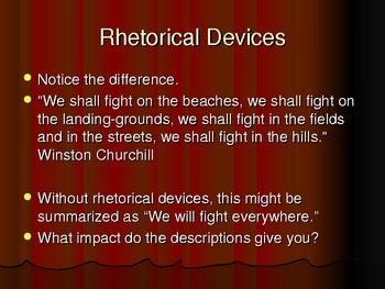 Rhetorical Devices Powerpoint