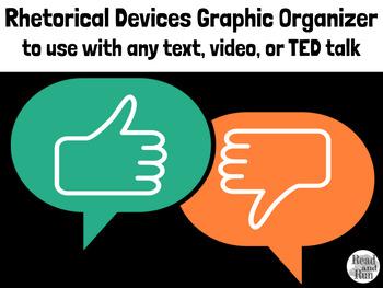 Rhetorical Devices Reading Graphic Organizer