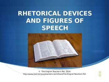 Rhetorical Devices and Figures of Speech PowerPoint