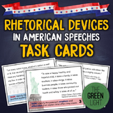 Rhetorical Devices in American Speeches Task Cards: Quizze
