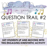 """Rhetorical Devices in Songs #2: Engaging Kinesthetic """"Question Trail"""" Activity"""