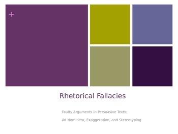 Rhetorical Fallacies in Persuasive Text