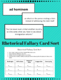 Rhetorical Fallacy Card Sort