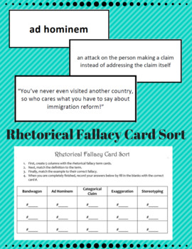 Rhetorical Fallacy Card Sort