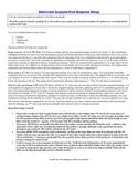 Rhetorical Free Response Analysis Essay Handout