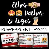 Rhetorical/Persuasive Appeals: Ethos Pathos & Logos PowerPoint