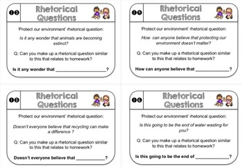 NEW: Rhetorical Question Chatter Cards