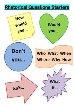Rhetorical Question Starters Poster