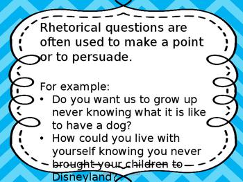 Rhetorical Questions Mini Lesson