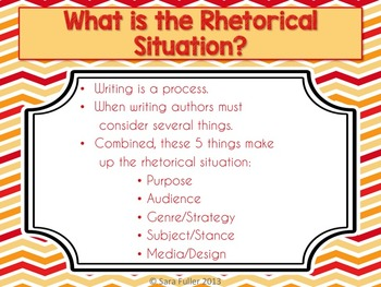 Rhetorical Situation and Analysis PDF Presentation
