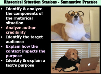 Rhetorical Situation Stations - Directions