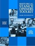 Rhetorical Stance Openers Toolkit