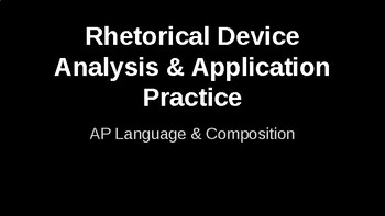 Rhetorical Device Analysis and Application Practice