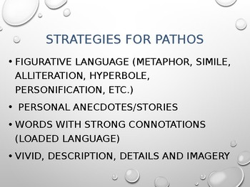 Rhetorical Strategy: Using Ethos, Logos, and Pathos in Writing Essays PowerPoint