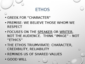 Rhetorical Strategy: Using Ethos, Logos, and Pathos in Writing Essays PowerPoint