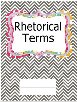 Rhetorical Terms Booklet