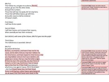 Rhetorical and Argumentative Analysis of the Funeral Scene in Julius Caesar