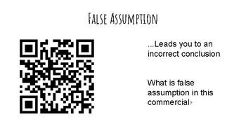Rhetorical and Logical fallacies interactive gallery walk