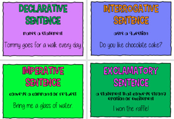 Rhetorical questions, joining words and exaggerations poster