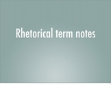 Rhetorical analysis term notes for AP Language and Composition