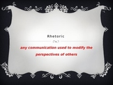 Rhetorical writing and rhetorical devices