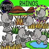 Rhino Clipart {Creative Clips Clipart}