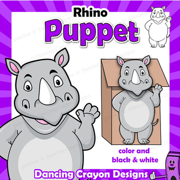 Rhino Craft - Paper Bag Puppet Rhinoceros