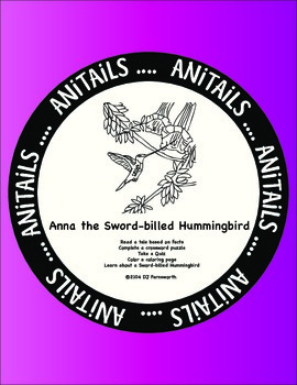 ANiTAiLS:Sword-billed Hummingbird Story, Crossword, Coloring Page and More