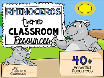Rhinoceros Theme Decor Pack