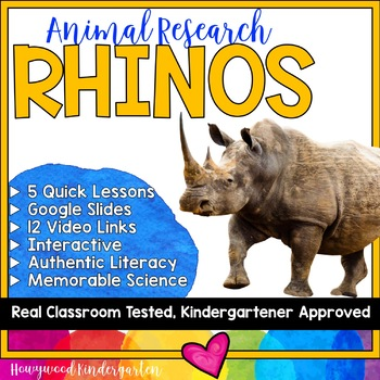 Rhinos ...  Zoo Animal Research Mixed w/ Authentic Literacy Practice!