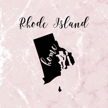 Rhode Island Clipart, USA State Clipart, Rhode Island Home, Gold US Clipart