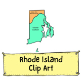 Rhode Island Geographic Regions Clip Art for Commercial Use