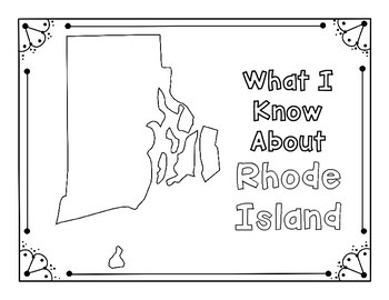 Rhode Island Graphic Organizers (Perfect for KWL charts and geography!)