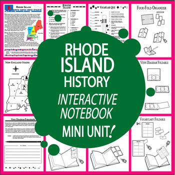Rhode Island History Unit + AUDIO – Interactive Rhode Island State Study