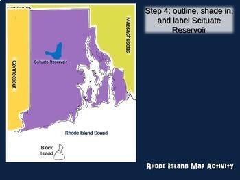 Rhode Island Map Activity- fun, engaging, follow-along 20-slide PPT