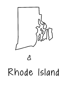 Rhode Island Map Coloring Page Craft - Lots of Room for No