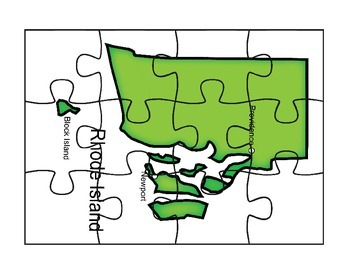 Rhode Island Map Puzzle