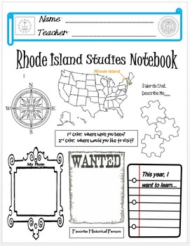 Rhode Island Notebook Cover