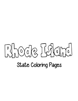 Rhode Island State Coloring Pages