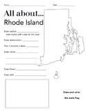 Rhode Island State Facts Worksheet: Elementary Version