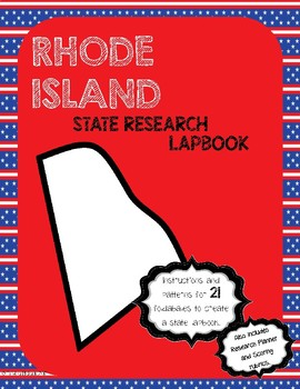 Rhode Island State Research Lapbook Interactive Project