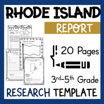 Rhode Island State Research Report Project Template bonus