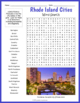 Rhode Island State Symbols Word Search Puzzle