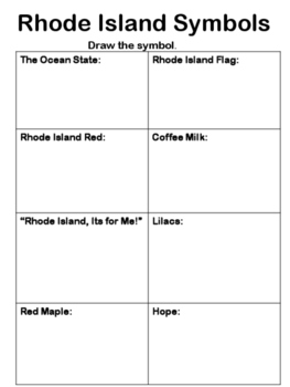 Rhode Island Symbols Activities (in French, English, and Spanish)